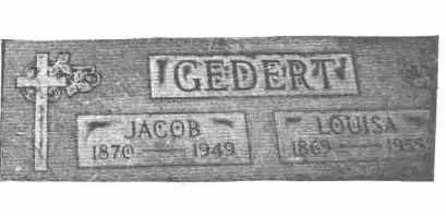 GEDERT, JACOB JOSEPH - Lucas County, Ohio | JACOB JOSEPH GEDERT - Ohio Gravestone Photos