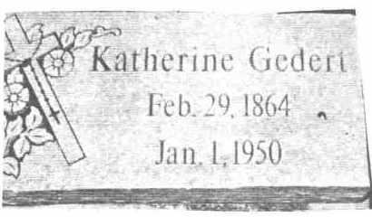 GEDERT, KATHERINE - Lucas County, Ohio | KATHERINE GEDERT - Ohio Gravestone Photos