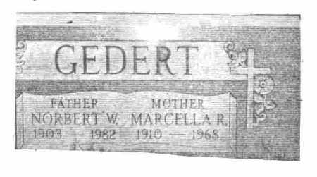 GILLEN GEDERT, MARCELLA R. - Lucas County, Ohio | MARCELLA R. GILLEN GEDERT - Ohio Gravestone Photos