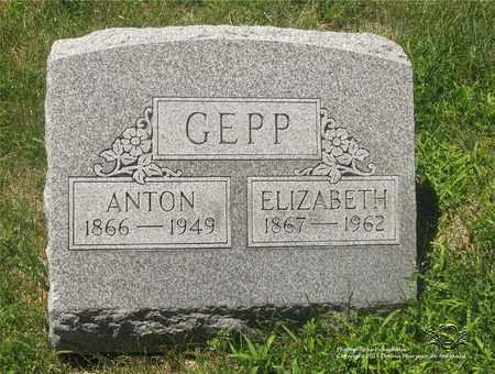 GEPP, ELIZABETH - Lucas County, Ohio | ELIZABETH GEPP - Ohio Gravestone Photos