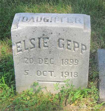 GEPP, ELSIE - Lucas County, Ohio | ELSIE GEPP - Ohio Gravestone Photos