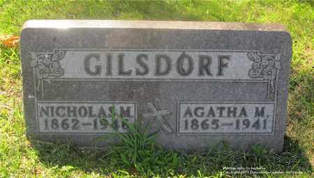 GILSDORF, NICHOLAS M. - Lucas County, Ohio | NICHOLAS M. GILSDORF - Ohio Gravestone Photos