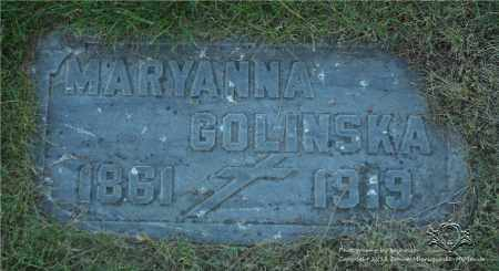 GOLINSKA, MARYANNA - Lucas County, Ohio | MARYANNA GOLINSKA - Ohio Gravestone Photos