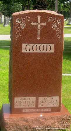 GOOD, ANNETTE K. - Lucas County, Ohio | ANNETTE K. GOOD - Ohio Gravestone Photos