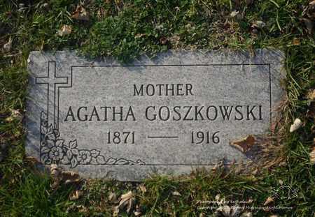 GOSZKOWSKI, AGATHA - Lucas County, Ohio | AGATHA GOSZKOWSKI - Ohio Gravestone Photos