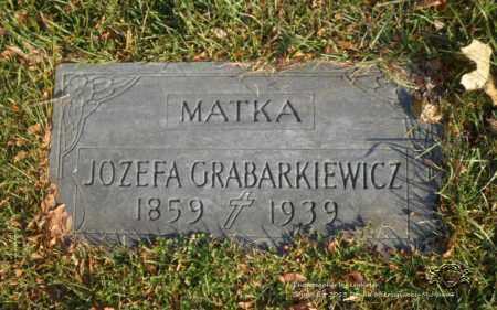GRABARKIEWICZ, JOZEFA - Lucas County, Ohio | JOZEFA GRABARKIEWICZ - Ohio Gravestone Photos