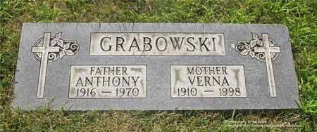 GRABOWSKI, ANTHONY - Lucas County, Ohio | ANTHONY GRABOWSKI - Ohio Gravestone Photos
