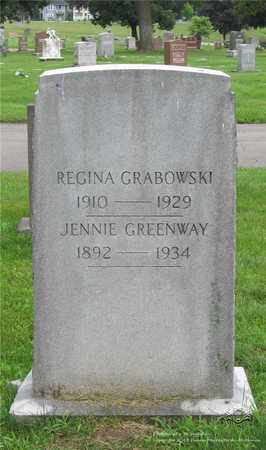 GREENWAY, JENNIE - Lucas County, Ohio | JENNIE GREENWAY - Ohio Gravestone Photos
