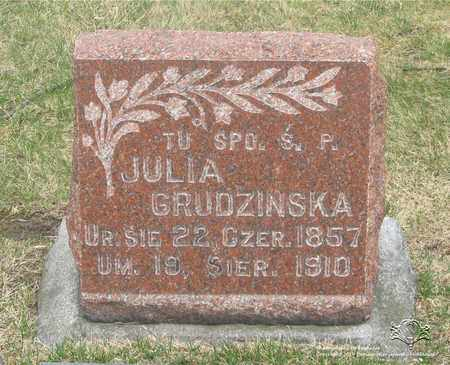 GRUDZINSKA, JULIA - Lucas County, Ohio | JULIA GRUDZINSKA - Ohio Gravestone Photos