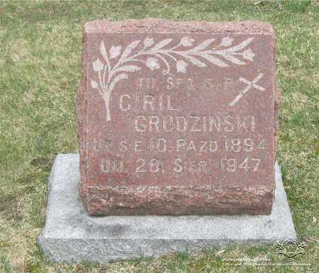 GRUDZINSKI, CYRIL - Lucas County, Ohio | CYRIL GRUDZINSKI - Ohio Gravestone Photos