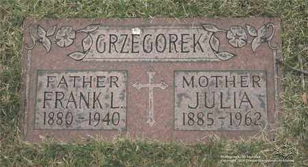 GRZEGOREK, JULIA - Lucas County, Ohio | JULIA GRZEGOREK - Ohio Gravestone Photos