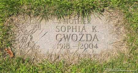 GWOZDA, SOPHIA K. - Lucas County, Ohio | SOPHIA K. GWOZDA - Ohio Gravestone Photos
