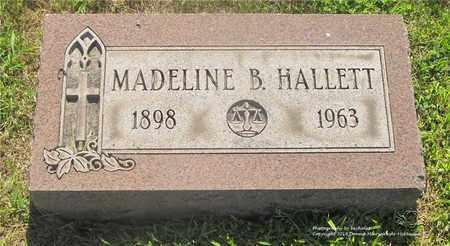 HALLETT, MADELINE B. - Lucas County, Ohio | MADELINE B. HALLETT - Ohio Gravestone Photos