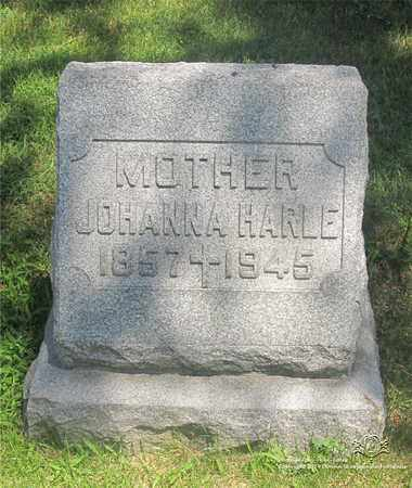 HARLE, JOHANNA - Lucas County, Ohio | JOHANNA HARLE - Ohio Gravestone Photos