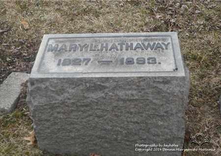 HATHAWAY, MARY L. - Lucas County, Ohio | MARY L. HATHAWAY - Ohio Gravestone Photos