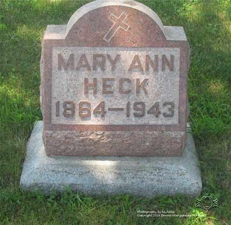 ZIEGELHOFER HECK, MARY ANN - Lucas County, Ohio | MARY ANN ZIEGELHOFER HECK - Ohio Gravestone Photos