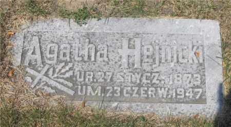 HEJNICKI, AGATHA - Lucas County, Ohio | AGATHA HEJNICKI - Ohio Gravestone Photos