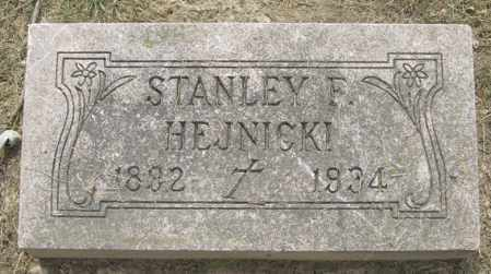 HEJNICKI, STANLEY F. - Lucas County, Ohio | STANLEY F. HEJNICKI - Ohio Gravestone Photos