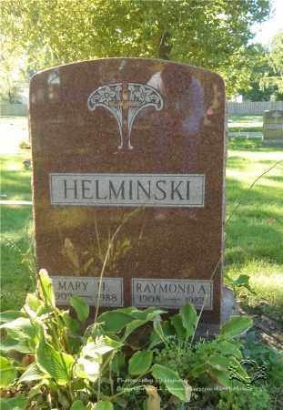 HELMINSKI, RAYMOND A. - Lucas County, Ohio | RAYMOND A. HELMINSKI - Ohio Gravestone Photos