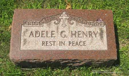 HENRY, ADELE G. - Lucas County, Ohio | ADELE G. HENRY - Ohio Gravestone Photos