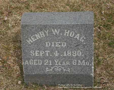 HOAG, HENRY W. - Lucas County, Ohio | HENRY W. HOAG - Ohio Gravestone Photos