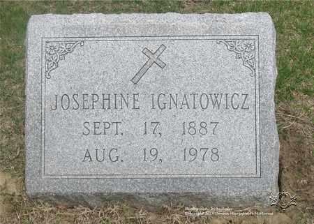 IGNATOWICZ, JOSEPHINE - Lucas County, Ohio | JOSEPHINE IGNATOWICZ - Ohio Gravestone Photos