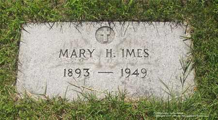 IMES, MARY H. - Lucas County, Ohio | MARY H. IMES - Ohio Gravestone Photos