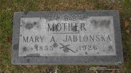 JABLONSKA, MARY - Lucas County, Ohio | MARY JABLONSKA - Ohio Gravestone Photos