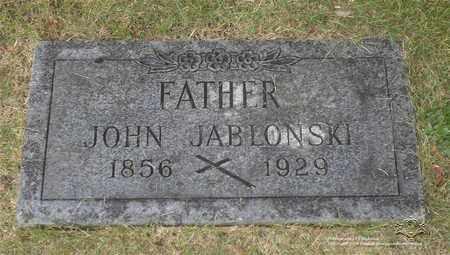 JABLONSKI, JOHN - Lucas County, Ohio | JOHN JABLONSKI - Ohio Gravestone Photos