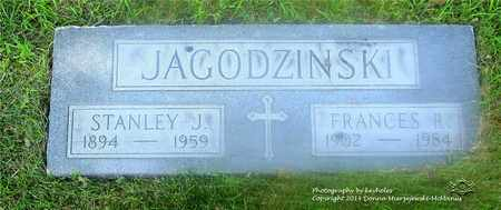 JAGODZINSKI, FRANCES - Lucas County, Ohio | FRANCES JAGODZINSKI - Ohio Gravestone Photos