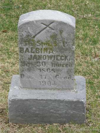 JANOWIECKA, BALBINA - Lucas County, Ohio | BALBINA JANOWIECKA - Ohio Gravestone Photos