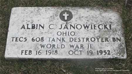 JANOWIECKI, ALBIN C. - Lucas County, Ohio | ALBIN C. JANOWIECKI - Ohio Gravestone Photos