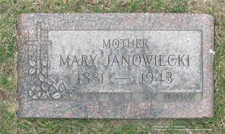JANOWIECKI, MARY - Lucas County, Ohio | MARY JANOWIECKI - Ohio Gravestone Photos