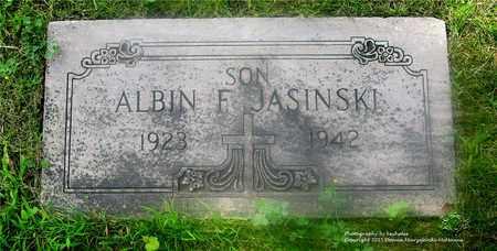 JASINSKI, ALBIN F. - Lucas County, Ohio | ALBIN F. JASINSKI - Ohio Gravestone Photos