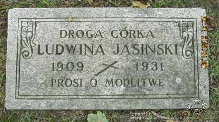JASINSKI, LUDWINA - Lucas County, Ohio | LUDWINA JASINSKI - Ohio Gravestone Photos