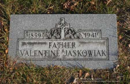 JASKOWIAK, VALENTINE - Lucas County, Ohio | VALENTINE JASKOWIAK - Ohio Gravestone Photos