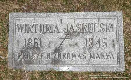 JASKULSKI, WIKTORIA - Lucas County, Ohio | WIKTORIA JASKULSKI - Ohio Gravestone Photos