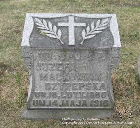 MACKOWIAK, JOZEFA - Lucas County, Ohio | JOZEFA MACKOWIAK - Ohio Gravestone Photos