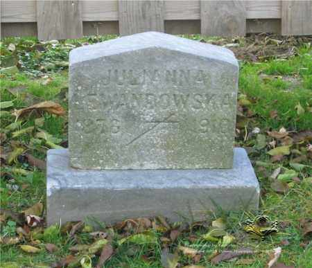 SZWAJKOWSKI LEWANDOWSKA, JULIANNA - Lucas County, Ohio | JULIANNA SZWAJKOWSKI LEWANDOWSKA - Ohio Gravestone Photos