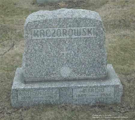 KACZOROWSKI, MARTHA - Lucas County, Ohio | MARTHA KACZOROWSKI - Ohio Gravestone Photos