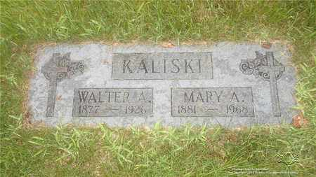 KALISKI, MARY A. - Lucas County, Ohio | MARY A. KALISKI - Ohio Gravestone Photos