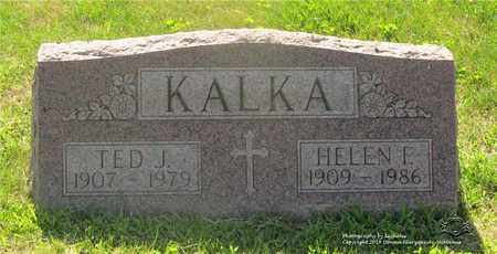 KALKA, TED J. - Lucas County, Ohio | TED J. KALKA - Ohio Gravestone Photos