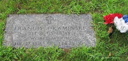 KAMINSKI, FRANCIS J. - Lucas County, Ohio | FRANCIS J. KAMINSKI - Ohio Gravestone Photos