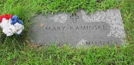 KAMINSKI, MARY - Lucas County, Ohio | MARY KAMINSKI - Ohio Gravestone Photos