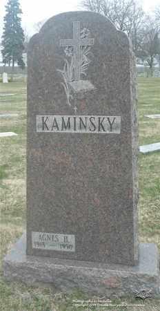 KAMINSKY, AGNES H. - Lucas County, Ohio | AGNES H. KAMINSKY - Ohio Gravestone Photos