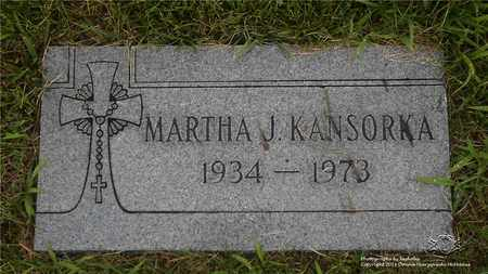 KANSORKA, MARTHA J. - Lucas County, Ohio | MARTHA J. KANSORKA - Ohio Gravestone Photos