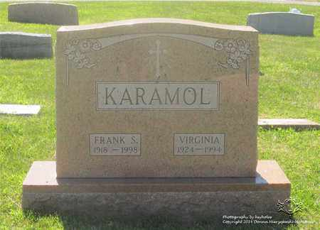 KARAMOL, VIRGINIA - Lucas County, Ohio | VIRGINIA KARAMOL - Ohio Gravestone Photos