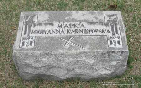 GRABELSKI KARNIKOWSKA, MARYANNA - Lucas County, Ohio | MARYANNA GRABELSKI KARNIKOWSKA - Ohio Gravestone Photos