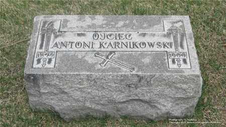 KARNIKOWSKI, ANTONI - Lucas County, Ohio | ANTONI KARNIKOWSKI - Ohio Gravestone Photos