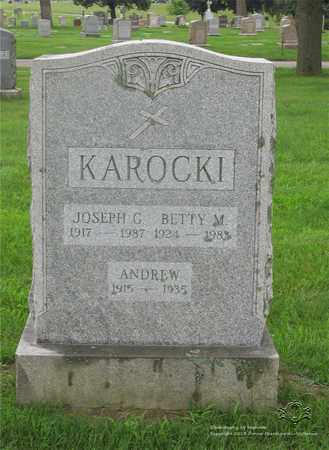 KAROCKI, BETTY M. - Lucas County, Ohio | BETTY M. KAROCKI - Ohio Gravestone Photos